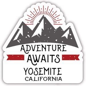 Yosemite Adventure Awaits Sticker