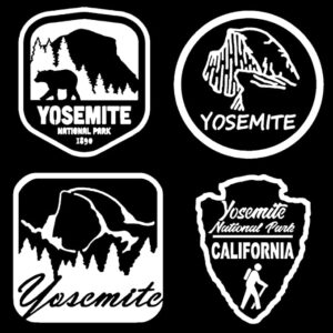 Yosemite Decals 4 Pack