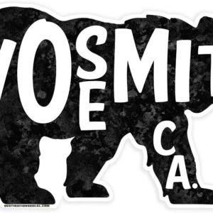 Yosemite National Park Bear Vinyl Decal Sticker