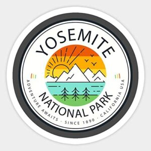 Yosemite National Park Retro Sticker
