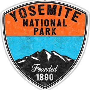 Yosemite National Park Sticker 2 Color