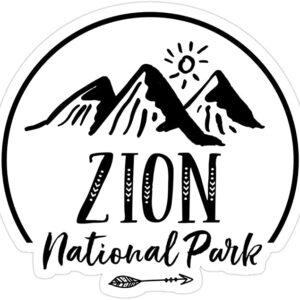Zion National Park Adventure Sticker