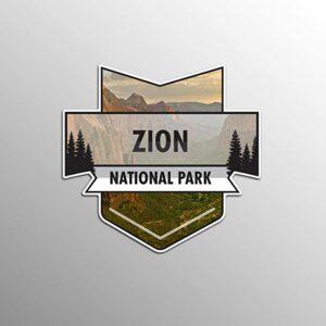 Zion National Park Chevron Sticker