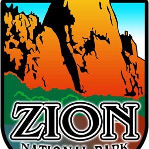 Zion National Park Decal Sticker