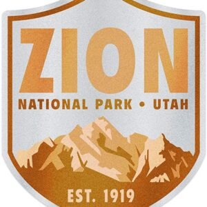 Zion National Park Established 1919 Sticker
