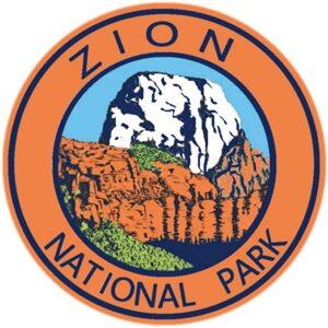 Zion National Park Orange Circle Sticker