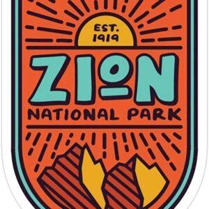 Zion National Park Retro Vinyl Sticker