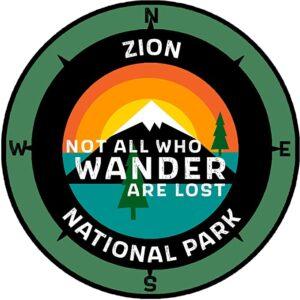 Zion National Park Utah Sticker