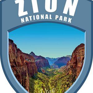 Zion National Park Vinyl Pvc Sticker