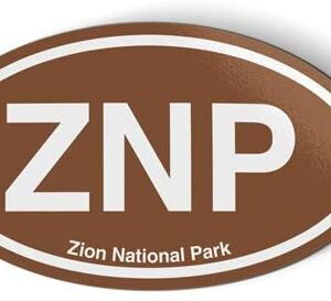 Znp Zion National Park Oval Brown