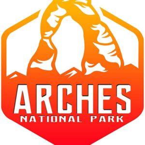 Arches National Park Retro Sticker
