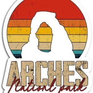 Arches National Park Retro Sunset Sticker