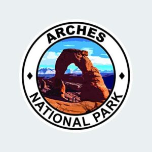 Arches National Park Round Sticker Multiple Sizes