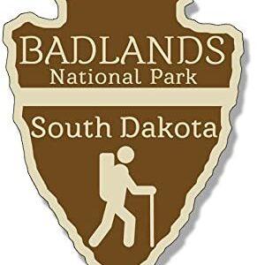 Badlands National Park Arrowhead Sticker