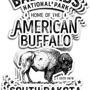 Badlands National Park Buffal Sticker