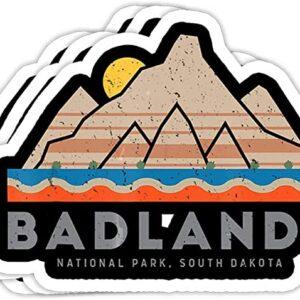 Badlands National Park Retro Sticker