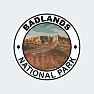 Badlands National Park Round Sticker Decal