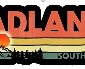 Badlands National Park Sd Retro 70s Sticker