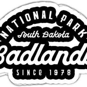Badlands National Park South Dakota 1978 Sticker