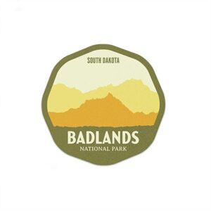 Badlands National Park South Dakota Hazy Sticker