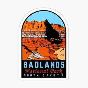 Badlands National Park Vintage Window Decal
