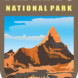 Badlands National Park Vinyl Chevron Die Cut Sticker