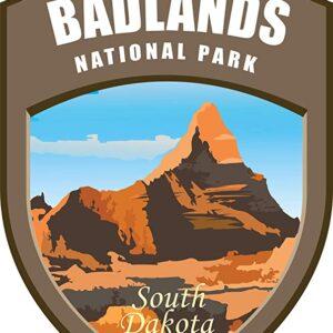 Badlands National Park Vinyl Shield Sticker
