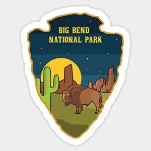 Big Bend National Park Car Sticker
