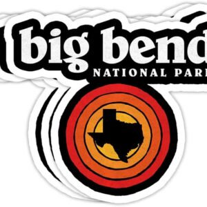 Big Bend National Park Vintage Vinyl Sticker