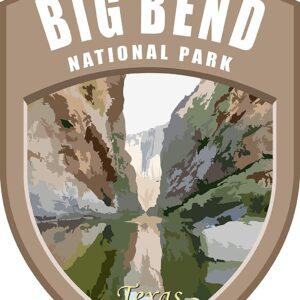 Big Bend National Park Vinyl Shield Sticker