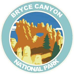 Bryce Canyon National Park Blue Round Sticker