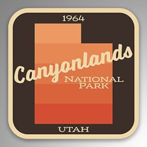 Canyonlands National Park Gradient Car Sticker