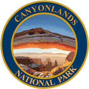 Canyonlands National Park Round Blue Sticker