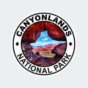 Canyonlands National Park Round Sticker
