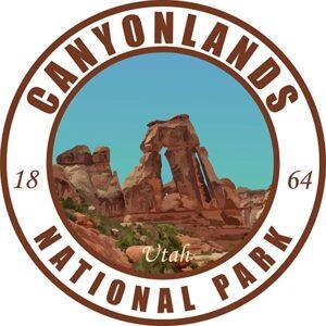 Canyonlands Vinyl Light Round Decal