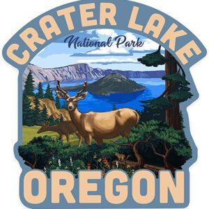 Crater Lake National Park Deer Sticker