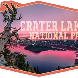Crater Lake National Park Oregon Sunset Sticker