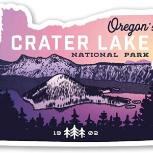 Crater Lake National Park Sunset Sticker