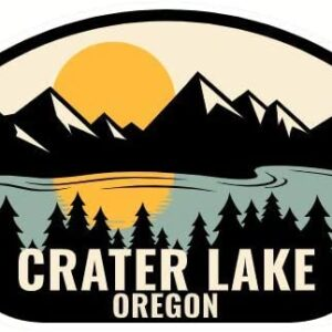 Crater Lake Oregon Stickers