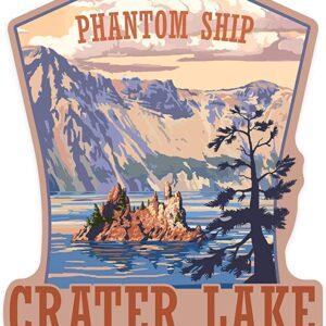 Crater Lake Phantom Ship Sticker