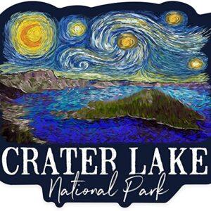 Crater Lake Starry Night Sticker