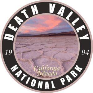 Death Valley Vinyl Black Round Decal
