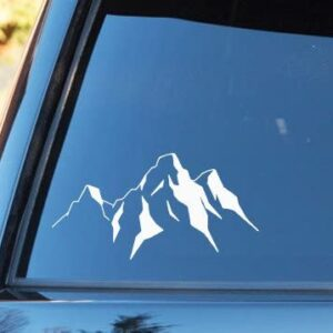 Grand Teton Mountains Shape Vinyl Decal