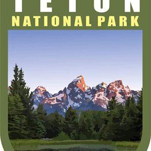 Grand Teton National Park Chevron Sticker
