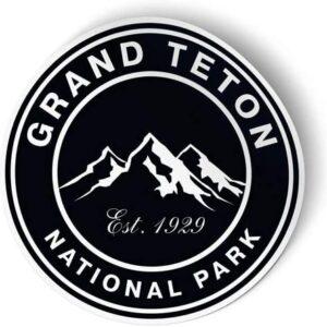 Grand Teton National Park Dark Round Sticker