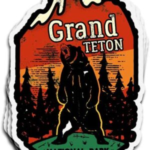 Grand Teton National Park Grizzly Decal Sticker