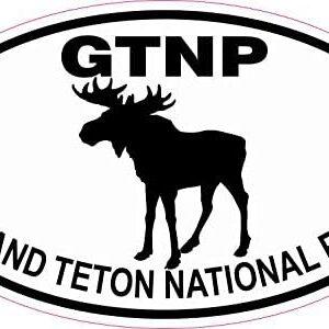 Grand Teton National Park Moose Oval Sticker