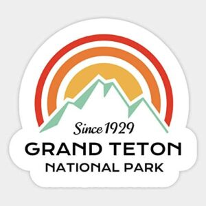 Grand Teton National Park Retro Sticker