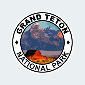 Grand Teton National Park Round Sticker