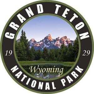 Grand Teton National Park Vinyl Black Sticker